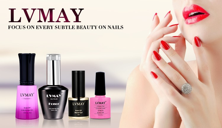 Lvmay Beautiful soak off uv gel nail polish Temperature change color