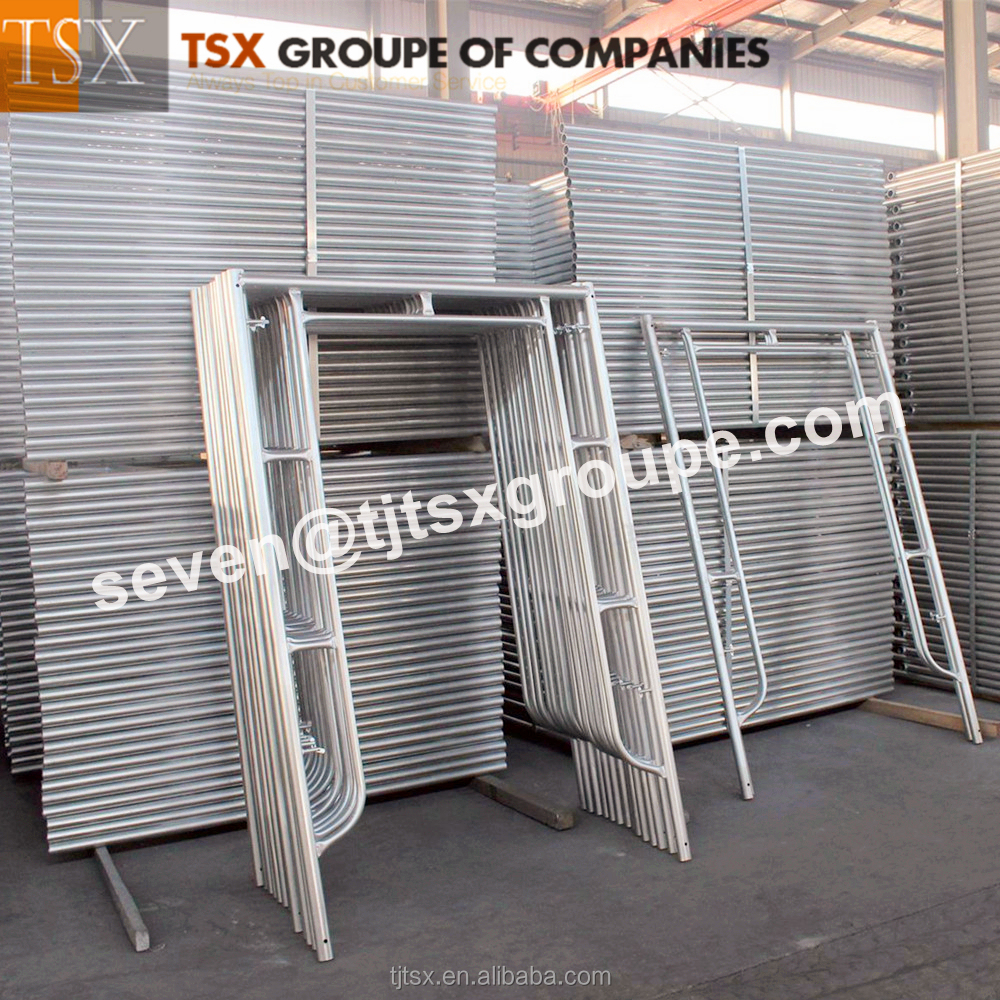Golden Supplier Tianjin TSX-SF2260 construction walk through scaffolding frame in competitive price