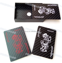 Hot style product wholesale 3k carbon fiber poker ,3k carbon fiber playing card,standard 52 card deck