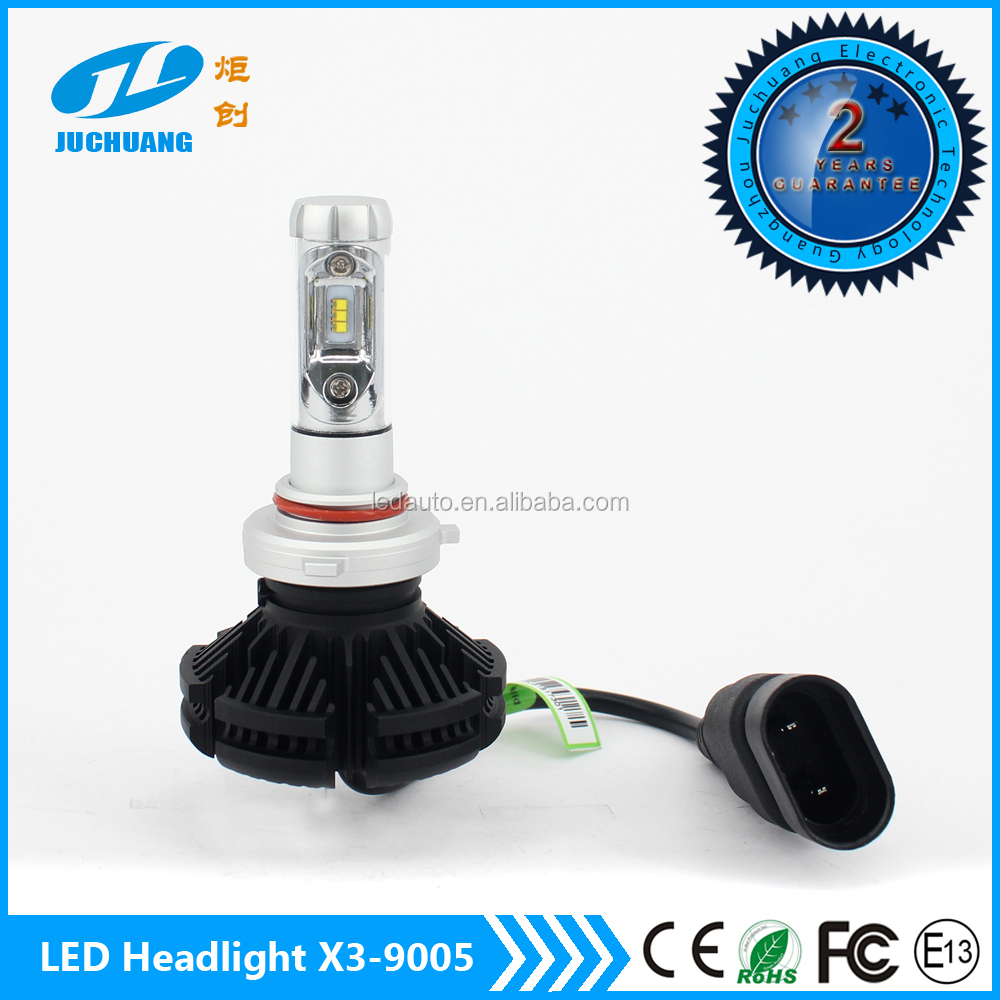 Automobiles & motorcycles LED Headlight 9005 HB3 9006 HB4 super bright 6000lm 3000K 6500K 8000K X3 car led headlight