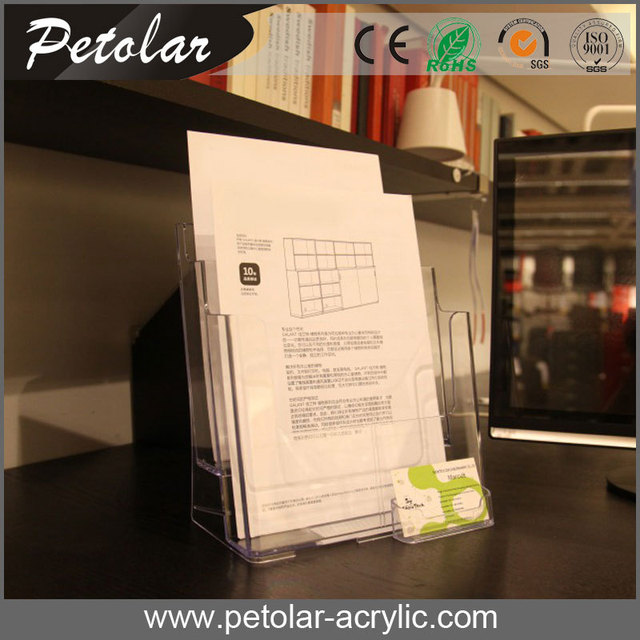 Durable Transparent Acrylic Leaning Bookshelf
