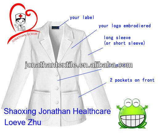 Unisex Consultation Lab Coat;New Design Lab Coat/hospital staff uniforms