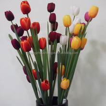 high quality natural feeling flower artificial tulip flower
