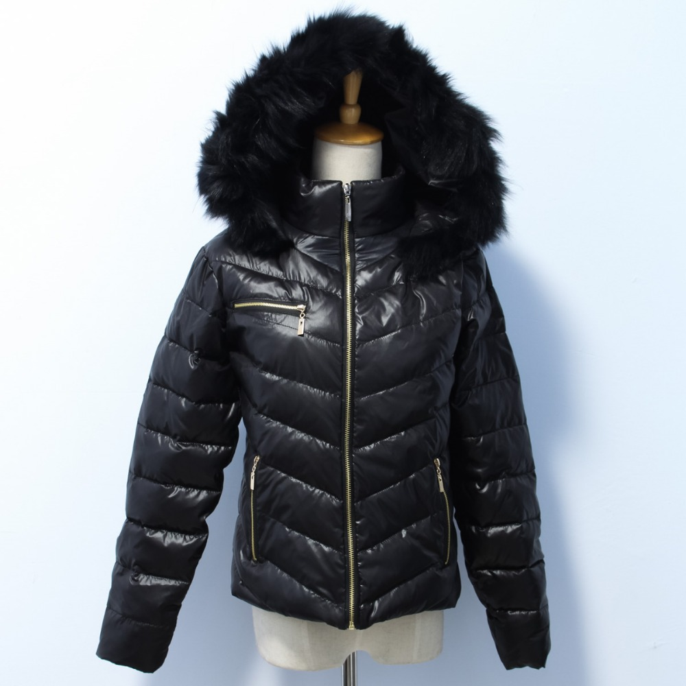 2016 women black fox fur for hood down jacket