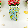 Custom cheap high quality decorative empty square fruit candy metal tin