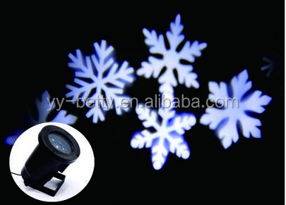 projection lamp outdoor dynamic snowflake Christmas light
