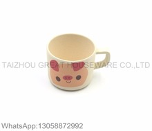 Cute pink pig design coffee mug bamboo fiber children mugs
