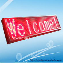 P7.62 High brightness Two-lines or single line USB led programmable sign LED display board