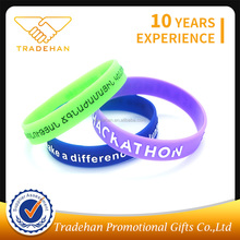 personalized custom silicon rubber band bracelets wristband bracelet with text
