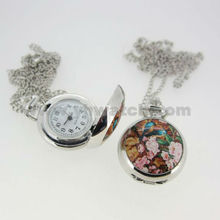 2013Vintage Exclusive Bloomy Alloy Pendant Pocket Watch dropshipping