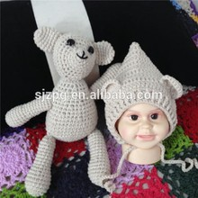 Cute bear crochet toys manufacturer with new design