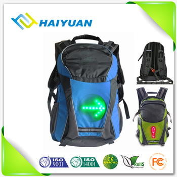 New style! Sport waterproof LED safety flashing backpack