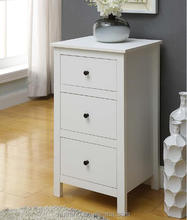 White wooden chest of drawers bedroom furniture design