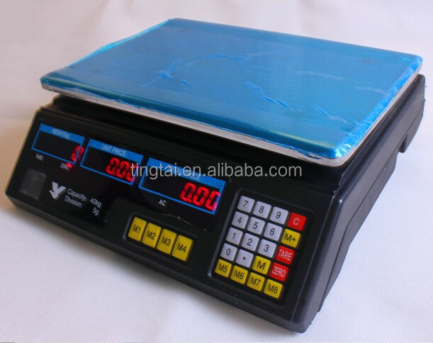 LCD display 30kg portable digital price scale, high precision