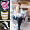 3 in 1 multi-use nursing scarf, stretchy baby car seat cover