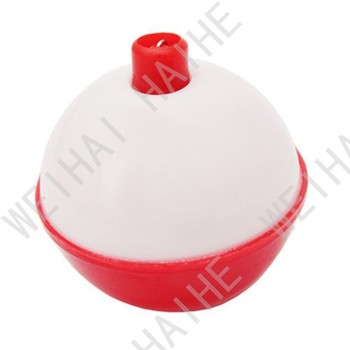Snap-On FISHING BOBBERS Round RED & WHITE flaots