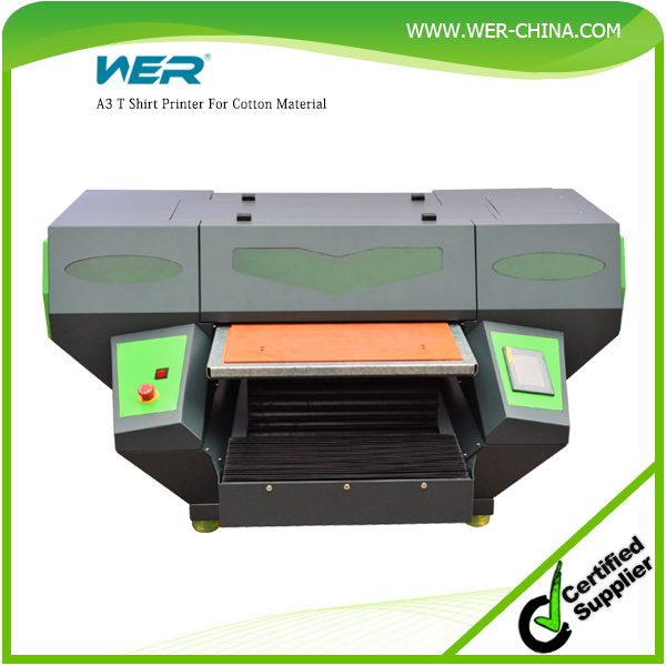 A3 DTG smart color direct to garment printing machine with Ricoh heads