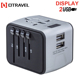 Otravel 199D Smart Universal All In One AU EU UK US Converter Power Adapter Safety Dual USB CE Travel Adaptor