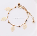 2016 Fashion Summer jewelry Summer Alloy leaf anklets