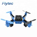Flytec T11S DIY Drones With HD Camera Building Blocks RC Quadcopter Altitude Hold Wifi FPV Remote Control Drone Toy RTF ( Blue )