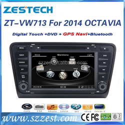 Zestech player video for Skoda octavia 2014 car dvd best quality