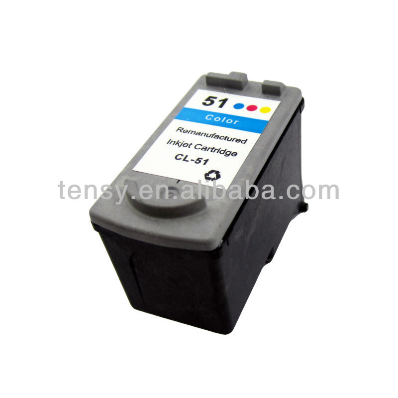 Shanghai Tensy refilled ink cartridge for Canon CL-51