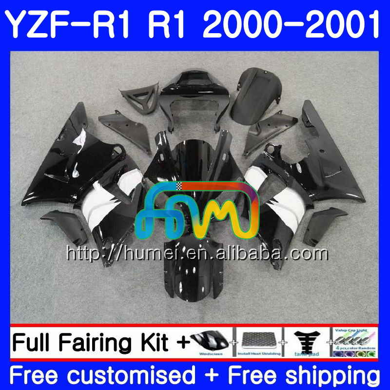 Body For YAMAHA YZF R 1 YZF 1000 YZF-<strong>R1</strong> <strong>00</strong>-<strong>01</strong> Bodywork glossy black 98HM5 YZF1000 YZF-1000 YZF <strong>R1</strong> <strong>00</strong> <strong>01</strong> YZFR1 2000 2001 Fairing