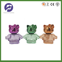 cartoon mini hello-kitty baby perfume glass bottle with cat UV cap