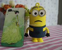 2015 Christmas gift PVC cartoon minion power bank 2200mah 2600mah