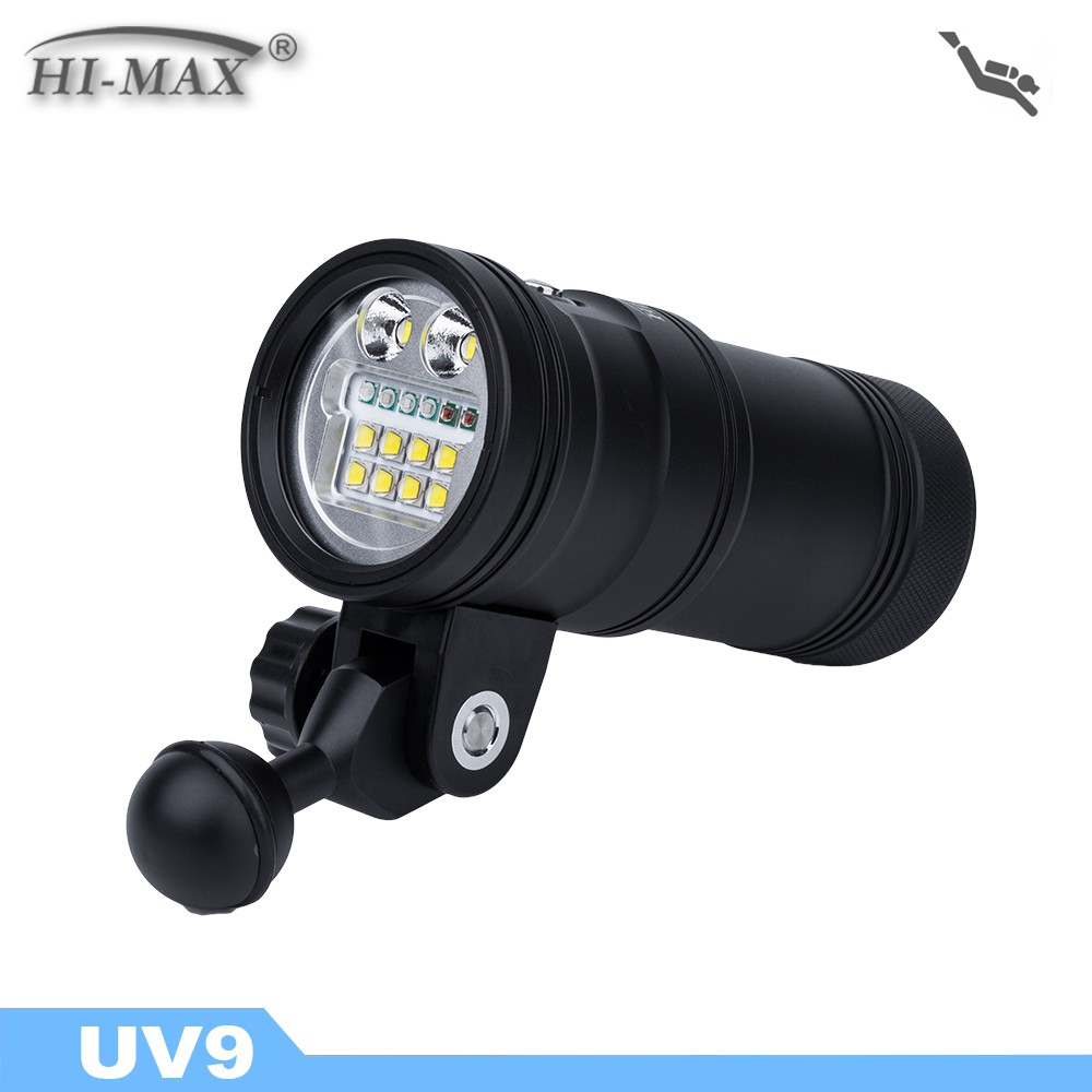 2017 HI-MAX Scuba LED <strong>Diving</strong> <strong>Torch</strong> 5000LM Waterproof UV Light Dive