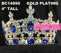 top quality fashion pageant AB blue crystal crown