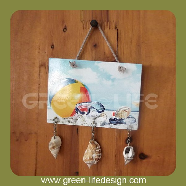 Beautiful Beach ceramic patterned scenery plaque