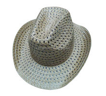 New useful purple straw cowboy hats