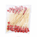 red heart shape mini mini bead decorative customized disposable bamboo food picks
