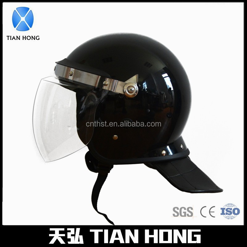 Security Protection Full Face PC Visor Police Anti Riot Helmet