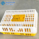 Professional plastic live bird crate transport cages with CE certificate