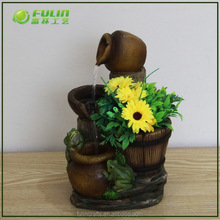 Resin Animal Water Fountain Bird Waterfall Tabletop Fountain