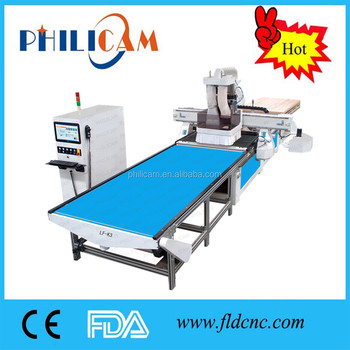 Panel Furniture Production Line cnc router with ATC drilling automatic feeding loading unloading system