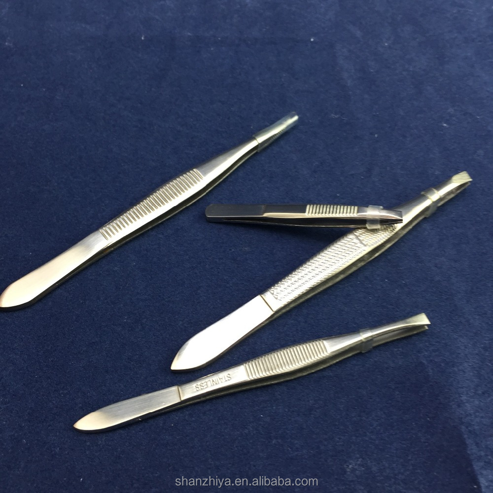 stainless steel professional eyebrow tweezers