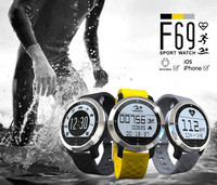 F69 Swimming smart watch Heart rate Always-on touch screen IP68 waterproof moblie watch phone for android