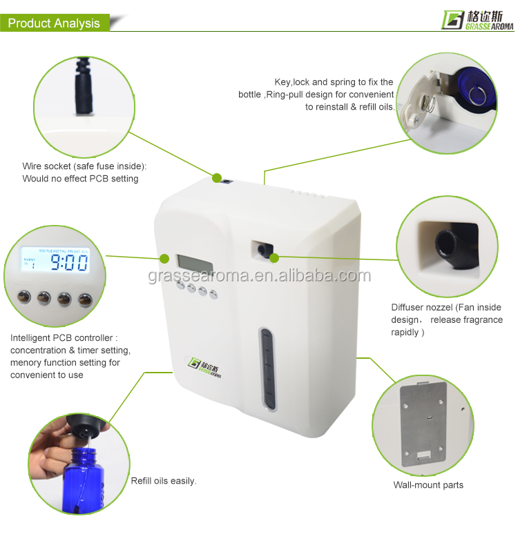 Grasse Aroma diffuser portable scent diffuser,electric fragrance system,commercial scent machine