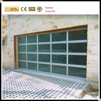 2017 Newest safety glass and aluminum frame garage door