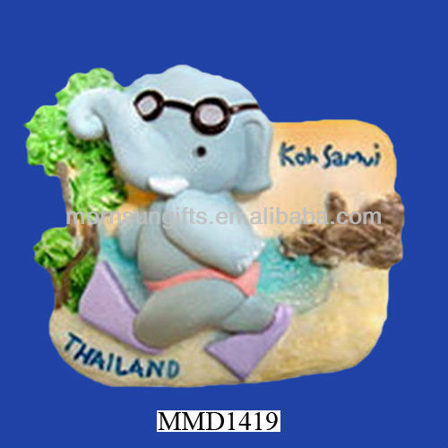 Happy at Samui Island Thailand Resin Magnet