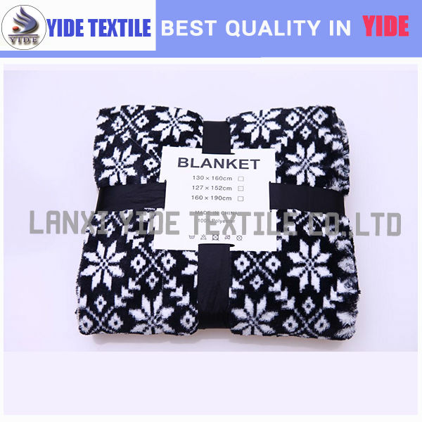 Lovely cute pretty useful top quality fresh design oem jacquard coral fleece blankets