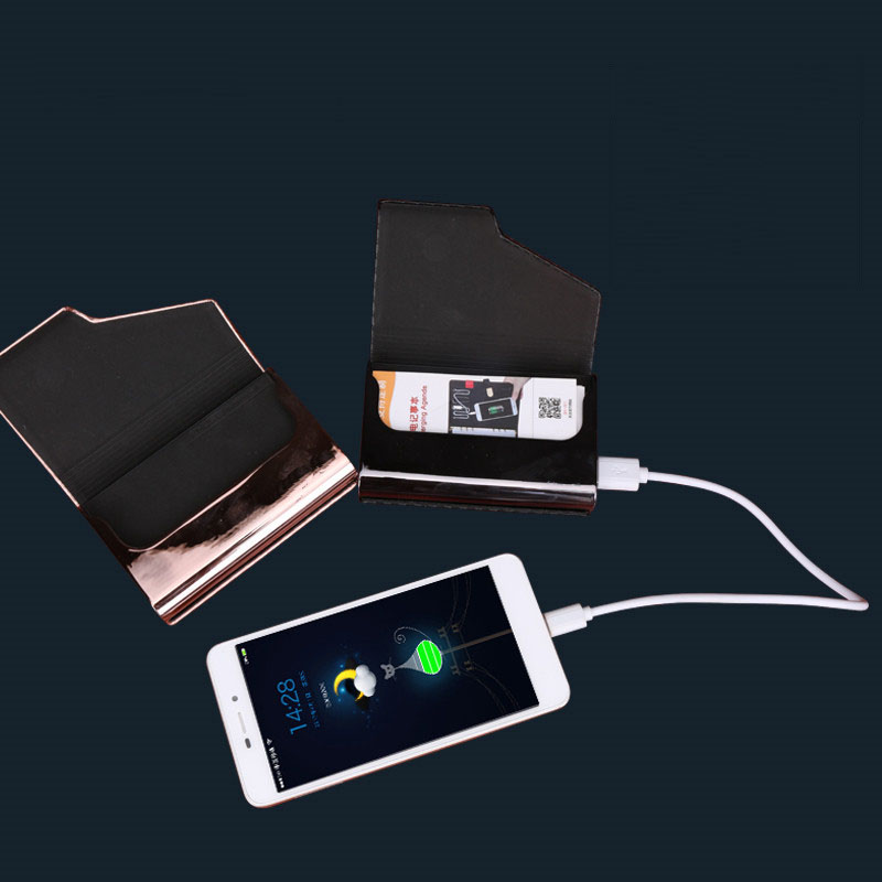 Gift thin mobile FOR samgung powerbank charger 4000mAh real capacity for Smart phone and table Built in cardcase