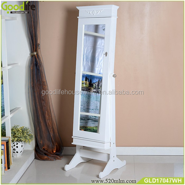 floor standing cheval mirror jewelry armoire