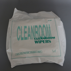 9x9inch 100% polyester cleaning cleanroom wiper for optical instrument