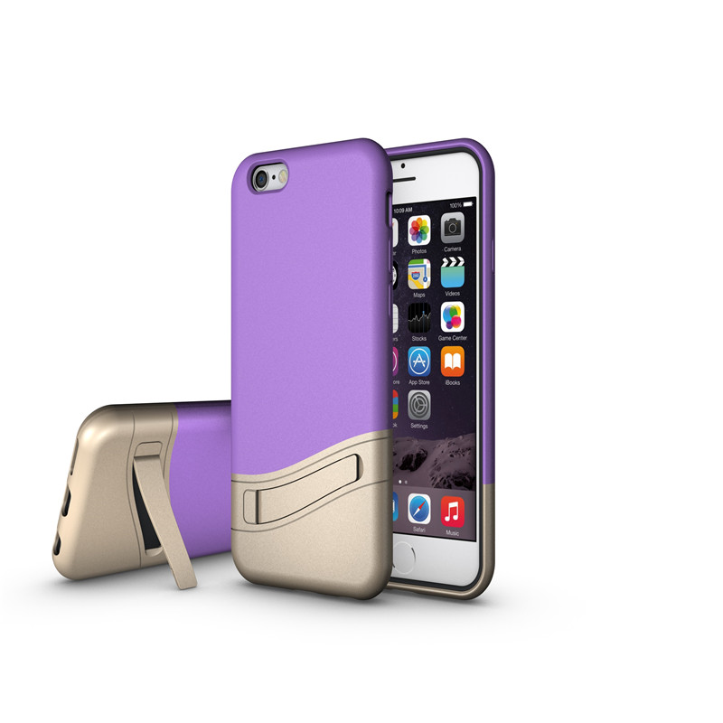 Newest design Net Mesh Stand super light antiskid&combo case /rugged case for iphone 6/6s