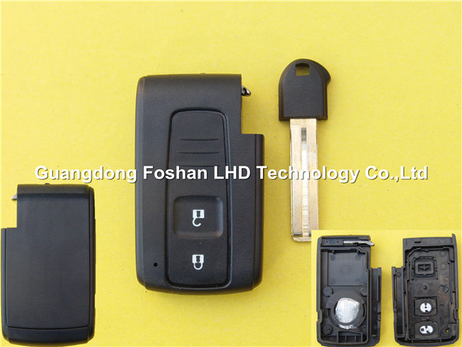 Promotion 2 buttons smart remote key shell for Toyota Crown blank key with blade