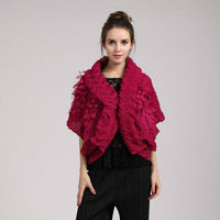 2015 autumn european high-end women cape poncho pleated coat latest fashion drape mantle design
